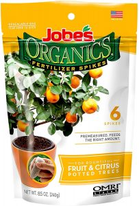 Jobe's Organic Fruit & Citrus Fertilizer Spikes